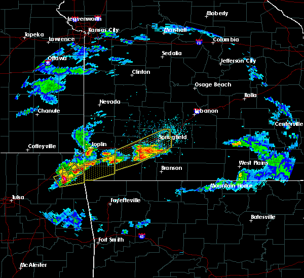 Radar Image for Severe Thunderstorms near Aurora, MO at 3/27/2020 4:13 PM CDT