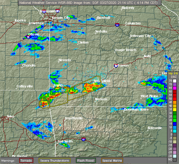 Radar Image for Severe Thunderstorms near Stella, MO at 3/27/2020 4:17 PM CDT