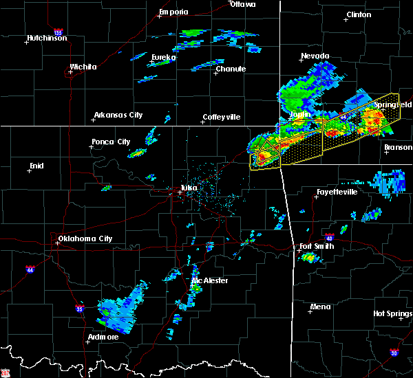 Radar Image for Severe Thunderstorms near Dodge, OK at 3/27/2020 4:16 PM CDT
