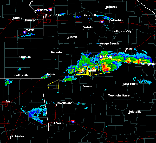 Radar Image for Severe Thunderstorms near Springfield, MO at 3/27/2020 5:16 PM CDT