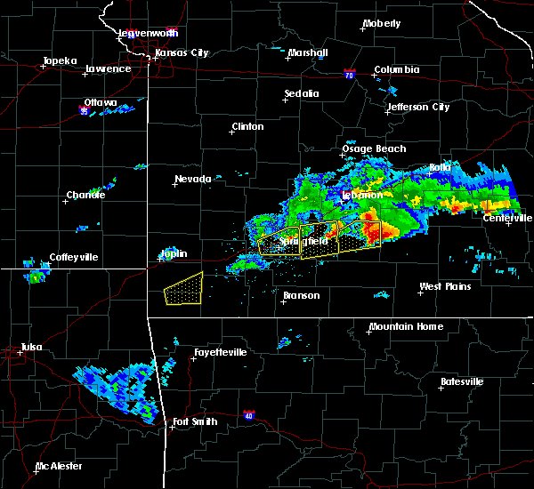 Radar Image for Severe Thunderstorms near Springfield, MO at 3/27/2020 5:25 PM CDT
