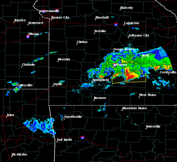 Radar Image for Severe Thunderstorms near Licking, MO at 3/27/2020 5:35 PM CDT