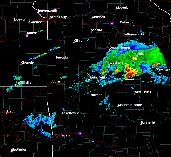 Radar Image for Severe Thunderstorms near Licking, MO at 3/27/2020 5:45 PM CDT