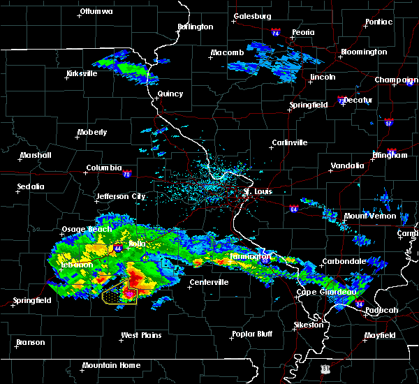 Radar Image for Severe Thunderstorms near Bunker, MO at 3/27/2020 6:05 PM CDT
