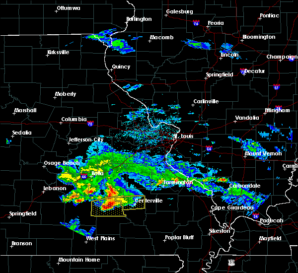 Radar Image for Severe Thunderstorms near Bunker, MO at 3/27/2020 6:22 PM CDT