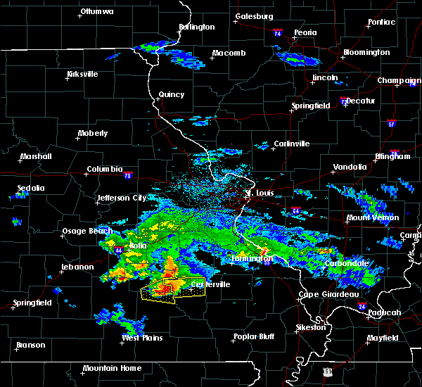 Radar Image for Severe Thunderstorms near Bunker, MO at 3/27/2020 6:34 PM CDT