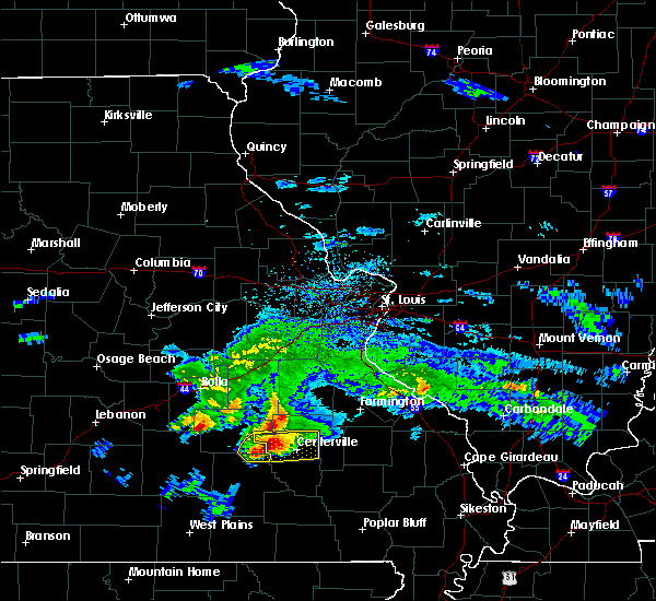 Radar Image for Severe Thunderstorms near Bunker, MO at 3/27/2020 6:39 PM CDT