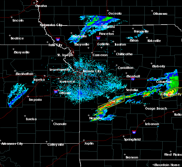 Radar Image for Severe Thunderstorms near Warsaw, MO at 3/27/2020 9:09 PM CDT