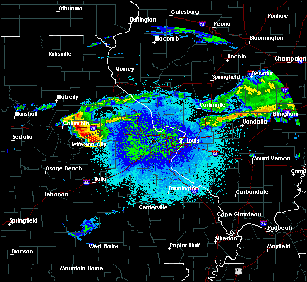 Radar Image for Severe Thunderstorms near Chamois, MO at 3/27/2020 10:53 PM CDT