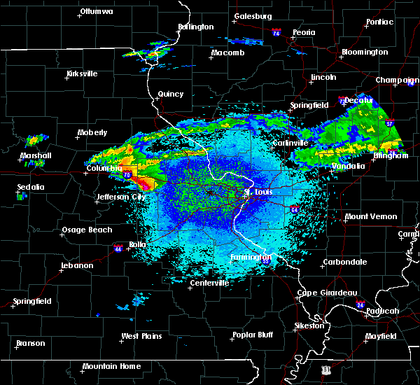 Radar Image for Severe Thunderstorms near Hermann, MO at 3/27/2020 11:09 PM CDT