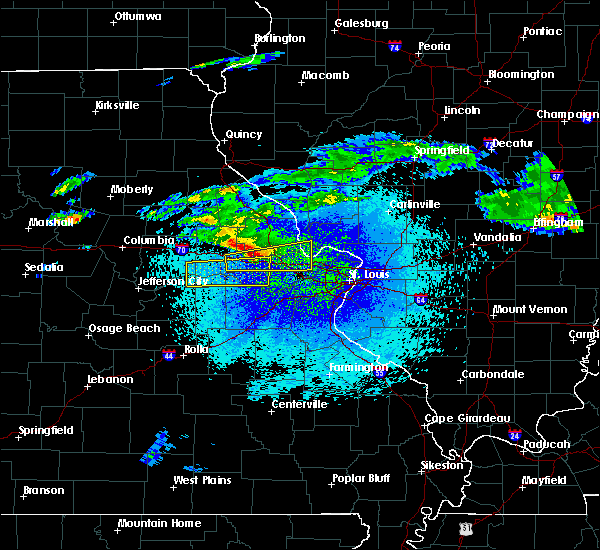 Radar Image for Severe Thunderstorms near Hermann, MO at 3/27/2020 11:30 PM CDT