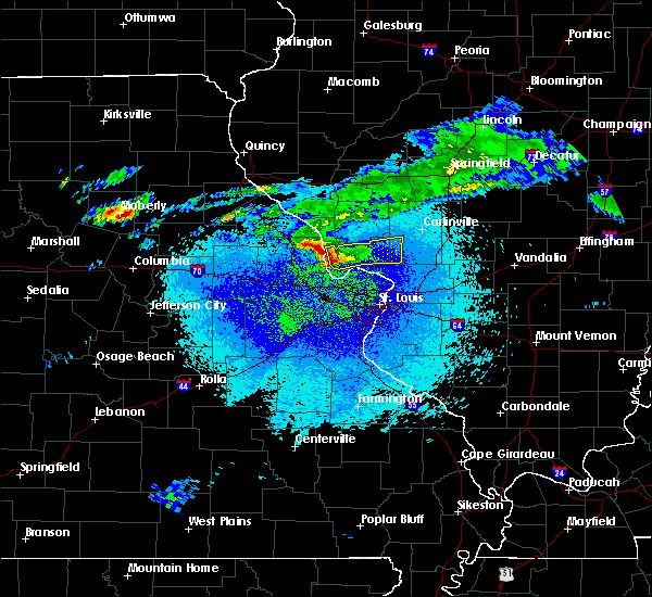 Radar Image for Severe Thunderstorms near Grafton, IL at 3/28/2020 12:05 AM CDT