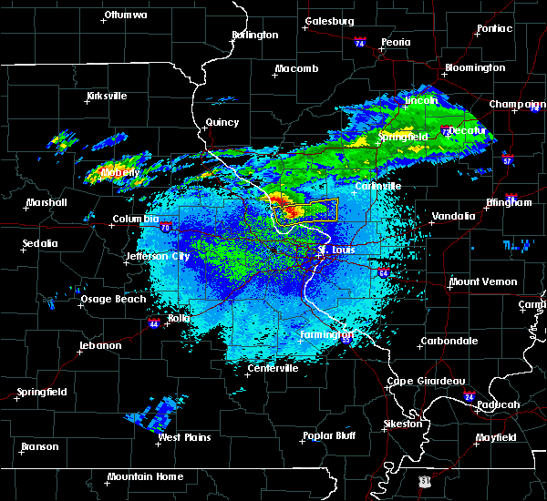 Radar Image for Severe Thunderstorms near Brighton, IL at 3/28/2020 12:14 AM CDT