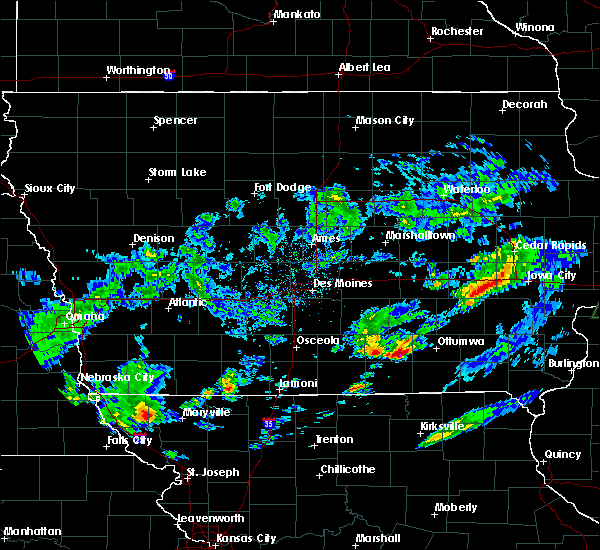 Radar Image for Severe Thunderstorms near Ottumwa, IA at 3/28/2020 1:10 AM CDT