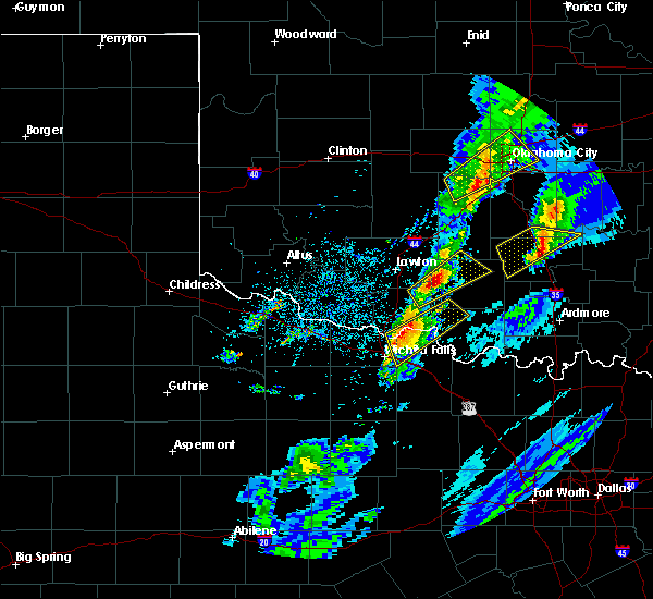 Radar Image for Severe Thunderstorms near Hastings, OK at 3/28/2020 4:41 AM CDT