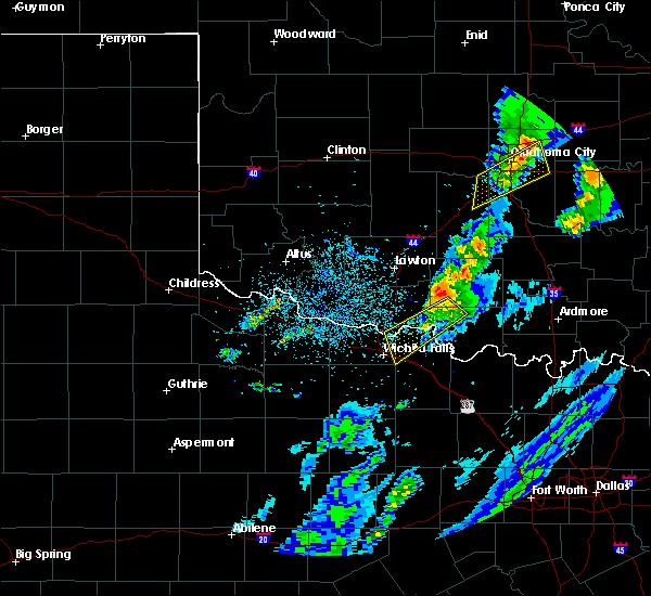 Radar Image for Severe Thunderstorms near Hastings, OK at 3/28/2020 5:05 AM CDT