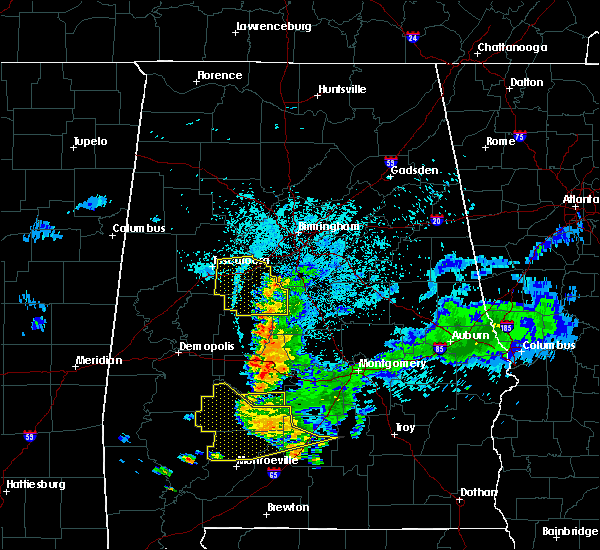 Radar Image for Severe Thunderstorms near Tuscaloosa, AL at 6/24/2015 10:49 PM CDT