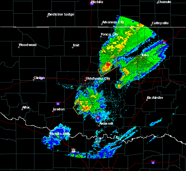 Radar Image for Severe Thunderstorms near Kendrick, OK at 3/28/2020 5:33 AM CDT