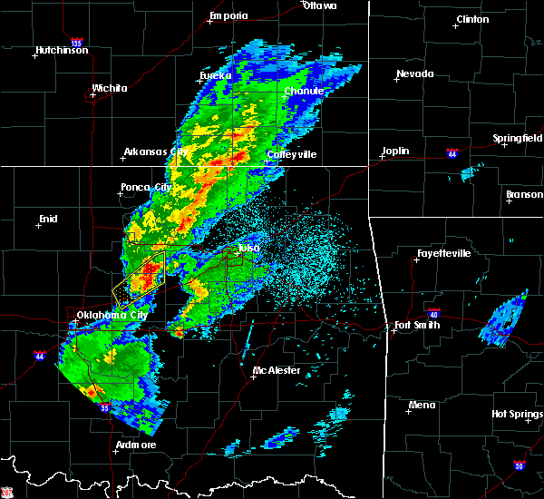 Radar Image for Severe Thunderstorms near Mannford, OK at 3/28/2020 5:41 AM CDT