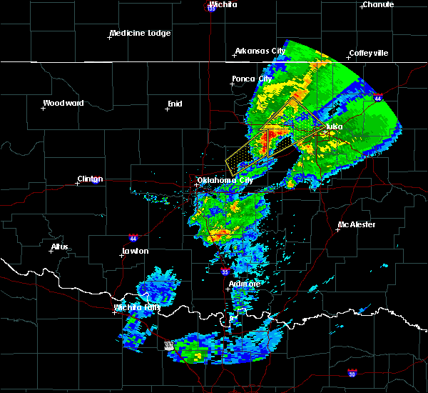 Radar Image for Severe Thunderstorms near Kendrick, OK at 3/28/2020 5:49 AM CDT