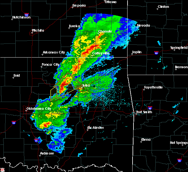 Radar Image for Severe Thunderstorms near Mannford, OK at 3/28/2020 6:03 AM CDT