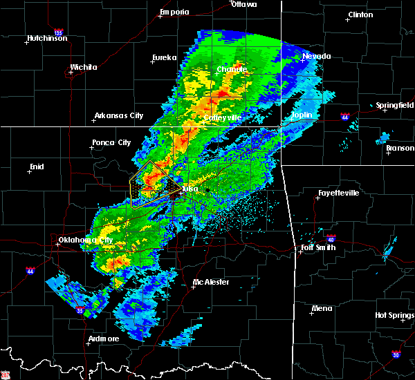 Radar Image for Severe Thunderstorms near Mannford, OK at 3/28/2020 6:13 AM CDT