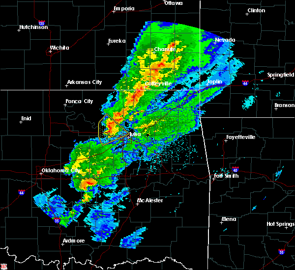 Radar Image for Severe Thunderstorms near Lenapah, OK at 3/28/2020 6:16 AM CDT