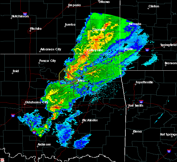 Radar Image for Severe Thunderstorms near Mannford, OK at 3/28/2020 6:25 AM CDT