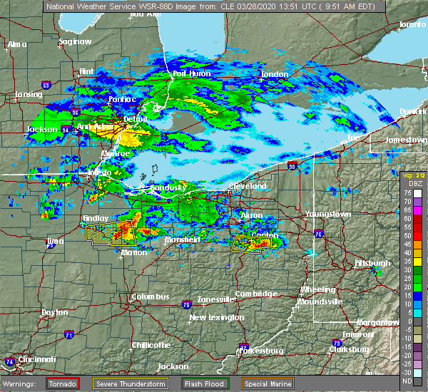 Radar Image for Severe Thunderstorms near New Riegel, OH at 3/28/2020 9:55 AM EDT
