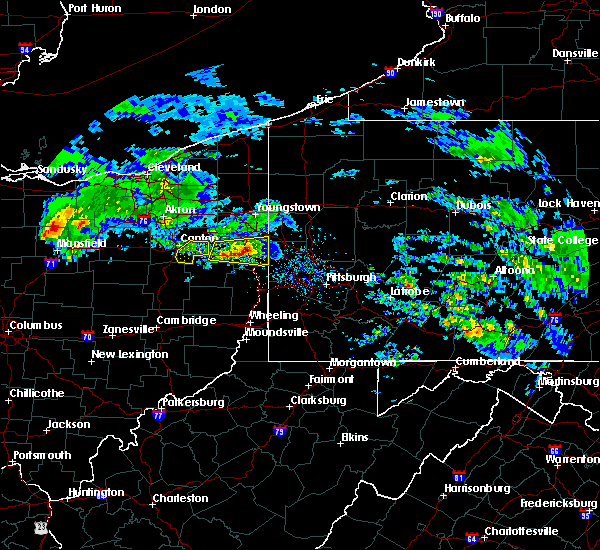 Radar Image for Severe Thunderstorms near East Palestine, OH at 3/28/2020 10:19 AM EDT