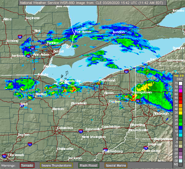 Radar Image for Severe Thunderstorms near Oberlin, OH at 3/28/2020 11:49 AM EDT