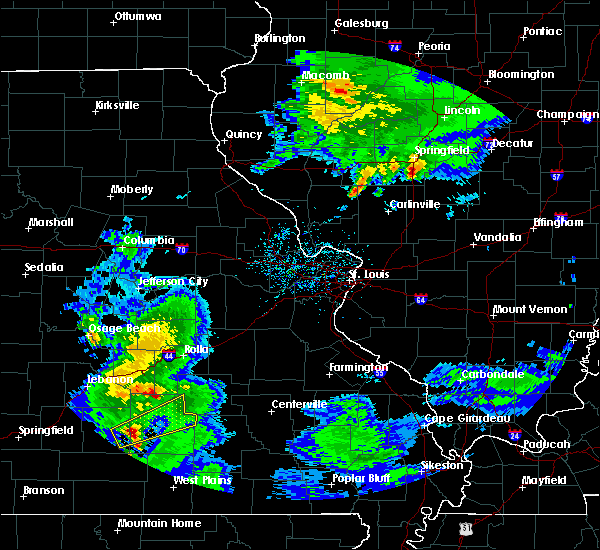 Radar Image for Severe Thunderstorms near St. James, MO at 3/28/2020 10:51 AM CDT