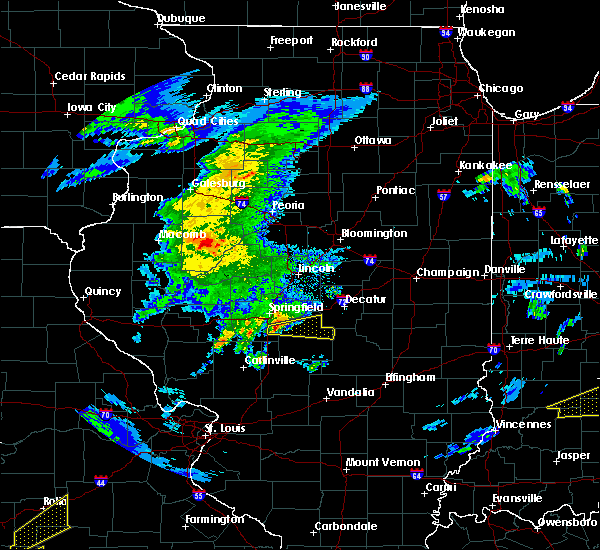 Radar Image for Severe Thunderstorms near Pawnee, IL at 3/28/2020 10:58 AM CDT
