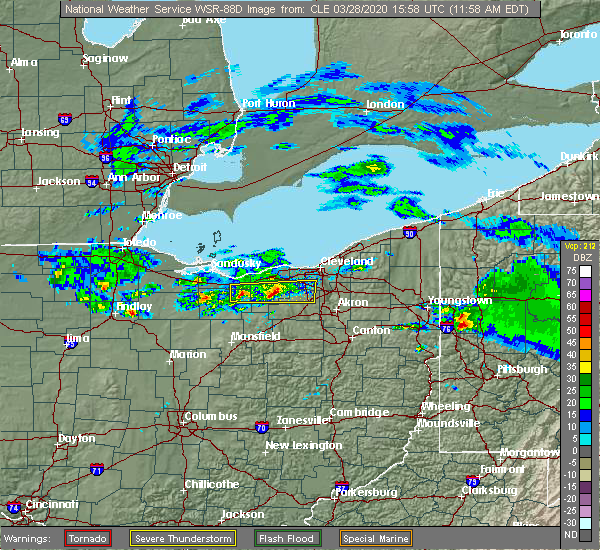 Radar Image for Severe Thunderstorms near Oberlin, OH at 3/28/2020 12:01 PM EDT