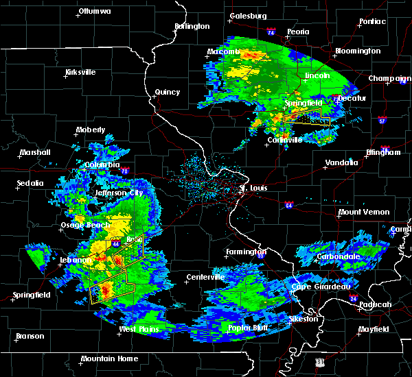 Radar Image for Severe Thunderstorms near St. James, MO at 3/28/2020 11:07 AM CDT