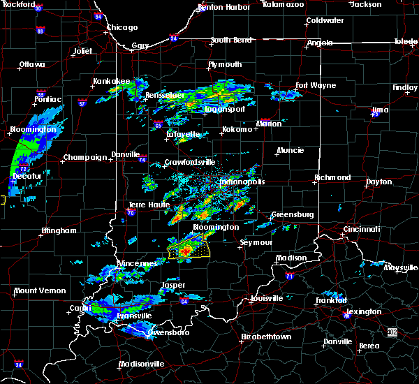 Radar Image for Severe Thunderstorms near Smithville-Sanders, IN at 3/28/2020 12:08 PM EDT