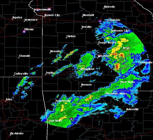 Radar Image for Severe Thunderstorms near Licking, MO at 3/28/2020 11:12 AM CDT
