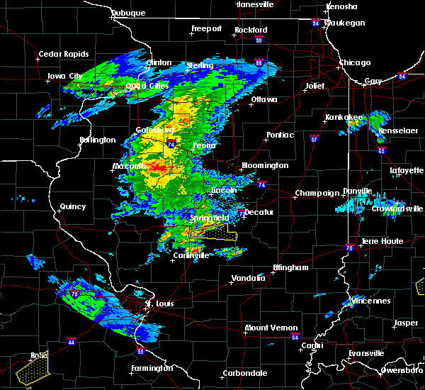 Radar Image for Severe Thunderstorms near Pawnee, IL at 3/28/2020 11:16 AM CDT