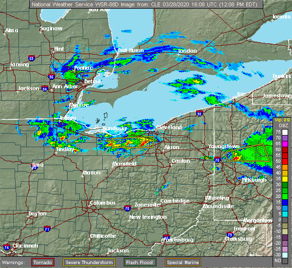 Radar Image for Severe Thunderstorms near Richfield, OH at 3/28/2020 12:15 PM EDT