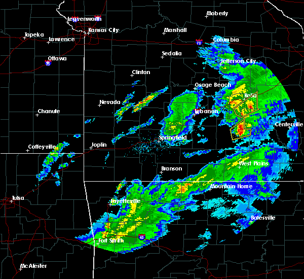 Radar Image for Severe Thunderstorms near Licking, MO at 3/28/2020 11:27 AM CDT