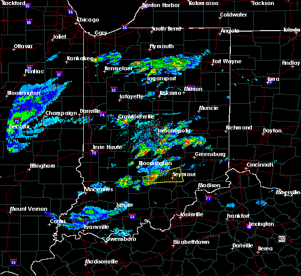 Radar Image for Severe Thunderstorms near Seymour, IN at 3/28/2020 12:29 PM EDT