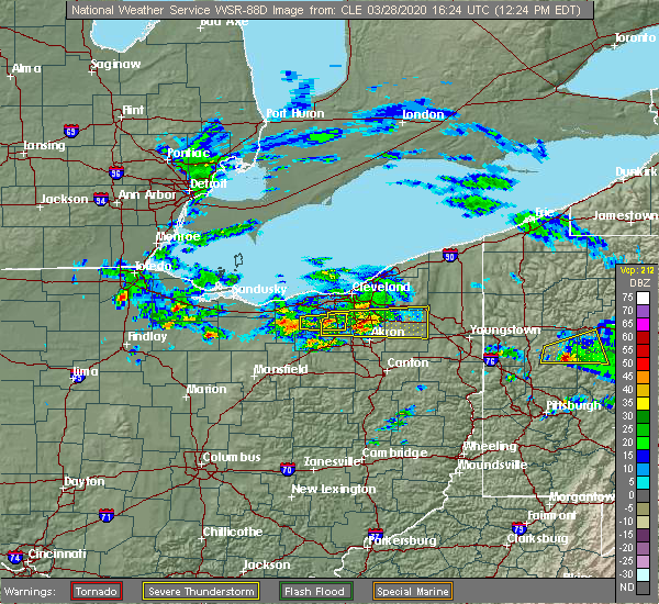 Radar Image for Severe Thunderstorms near Strongsville, OH at 3/28/2020 12:29 PM EDT