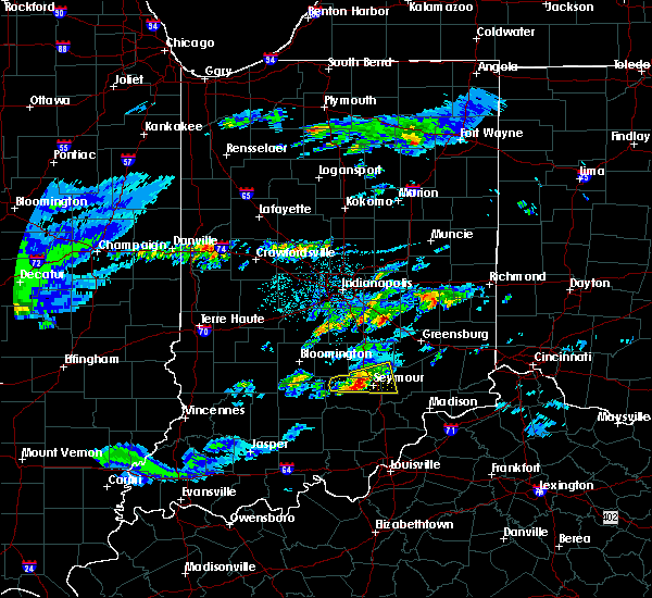 Radar Image for Severe Thunderstorms near Seymour, IN at 3/28/2020 12:39 PM EDT