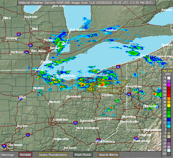 Radar Image for Severe Thunderstorms near South Canal, OH at 3/28/2020 12:42 PM EDT