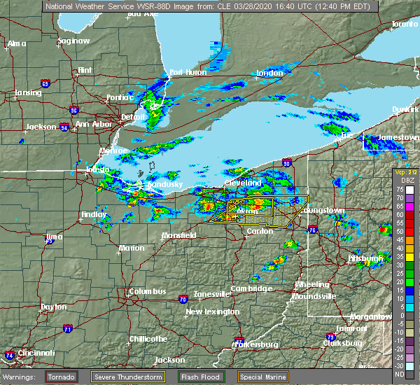 Radar Image for Severe Thunderstorms near Richfield, OH at 3/28/2020 12:44 PM EDT