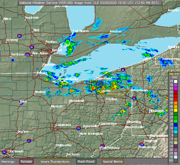 Radar Image for Severe Thunderstorms near South Canal, OH at 3/28/2020 12:52 PM EDT