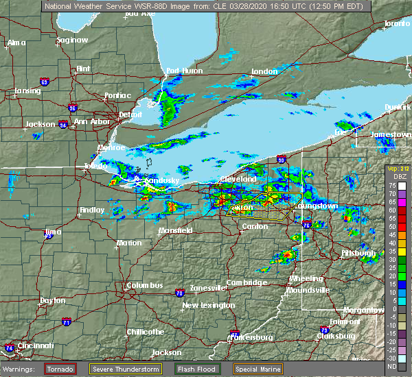 Radar Image for Severe Thunderstorms near South Canal, OH at 3/28/2020 12:54 PM EDT