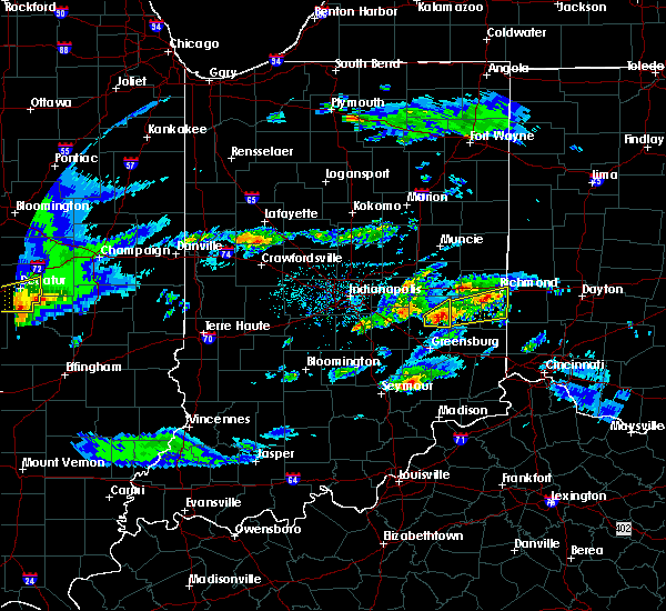 Radar Image for Severe Thunderstorms near Richmond, IN at 3/28/2020 12:58 PM EDT