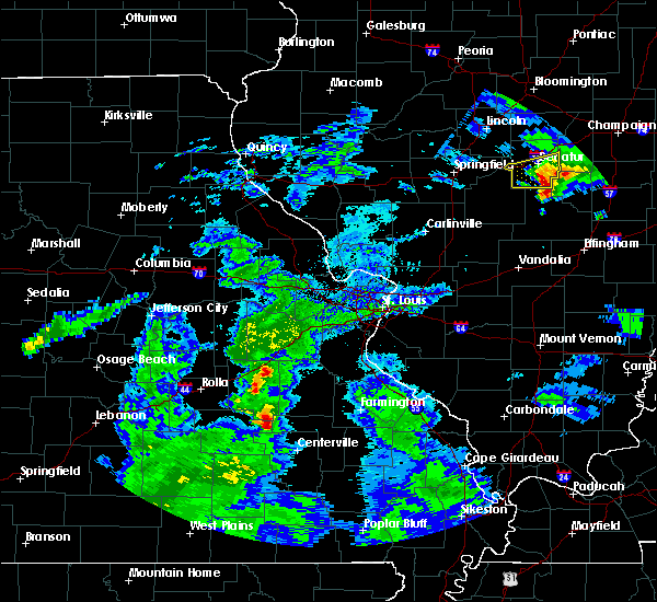 Radar Image for Severe Thunderstorms near Irondale, MO at 3/28/2020 12:02 PM CDT