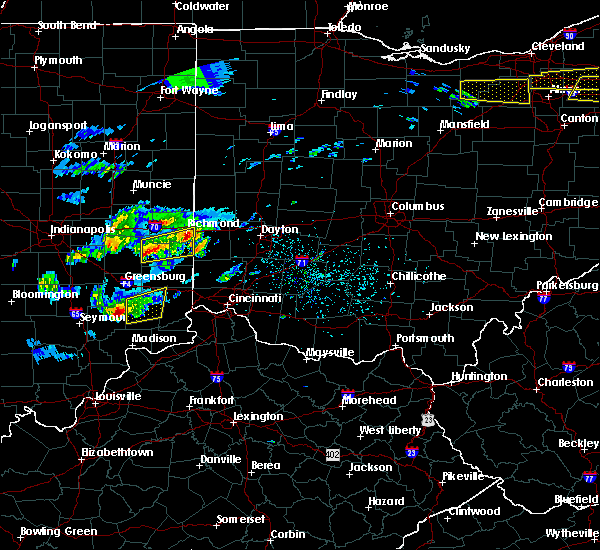Radar Image for Severe Thunderstorms near Richmond, IN at 3/28/2020 1:13 PM EDT